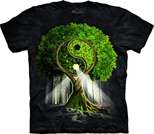 The Mountain Men's Yin Yang Tree T-Shirt Black L