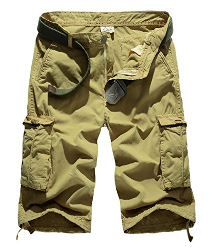 Lega Mens Summer Loose Fit Twill Outdoor Casual Cargo (Twill Clothing)