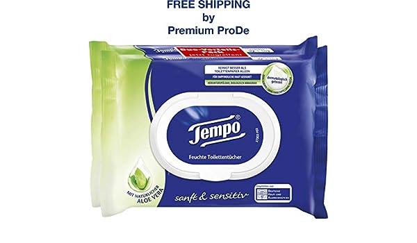 Tempo 84 toallas - papel higiénico húmedo suave y nutritivo Aloe ...