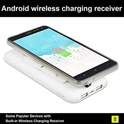 Qianyou Receptor Cargador inalámbrico, Universal Qi Wireless ...