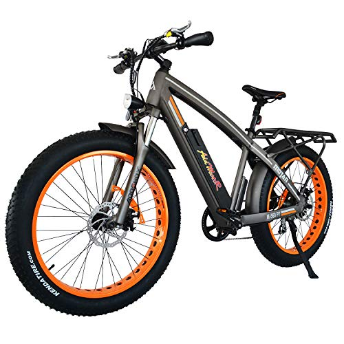 Addmotor MOTAN Electric Bicycles Mountain Fat Tire 26 Inch 750W Power Electric Bikes Removable 48V 11.6AH Lithium Battery M-560 P7 Ebikes for Adults+Fenders+Rear Rack(Orange)