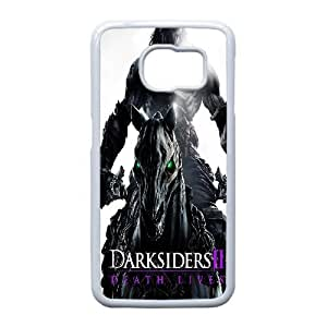 Hard Pattern Cases Samsung Galaxy S6 Edge Cell Phone Case White Darksiders Jyrry Protective Fits Cover
