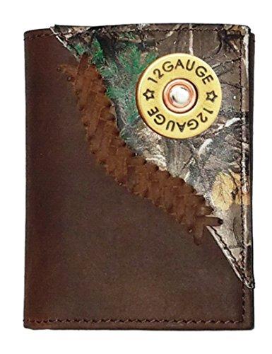 Custom 12 Gauge Shotgun Realtree AP Camo trifold wallet