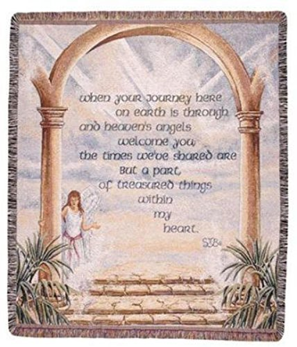 "The Journey Inspirational Angel Tapestry Throw Blanket 50"" x 60"" SKU TPM588"