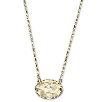 11fe1f1de Swarovski Women's Necklace with Pendant Vanilla Crystal golden Shadow Pale  gold 38 cm 5008657: Amazon.co.uk: Jewellery