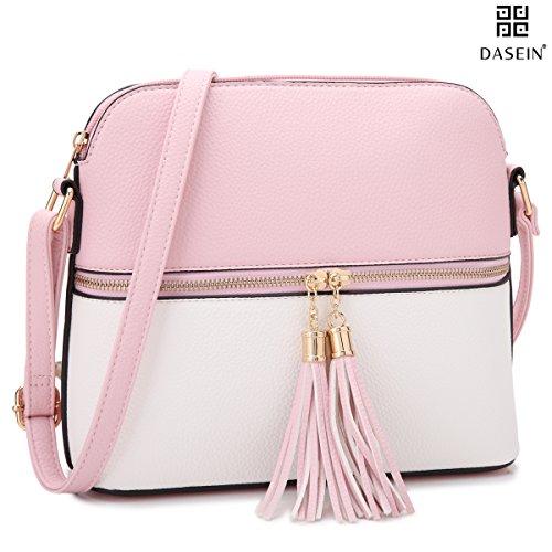 DASEIN Lightweight Medium Crossbody Bag Handbag with Tassel
