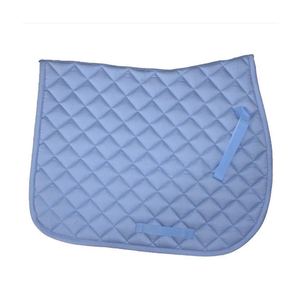 YINSONG Mantilla de Caballo - Sillín de Uso General Ecuestre Mantilla Cuadrada para Montar a Caballo Mantilla Acolchada Cómoda, Azul