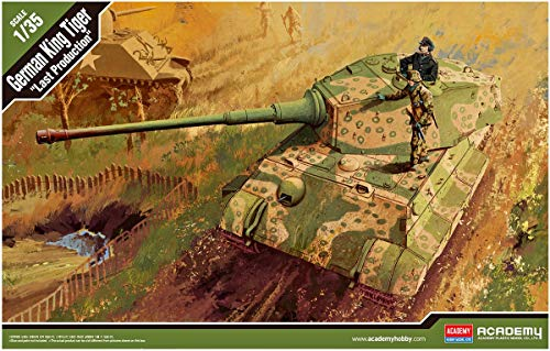 Academy German King Tiger Last Production Military Land Vehicle Model Building Kit from Academy Models