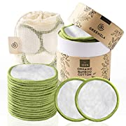 #LightningDeal Greenzla Reusable Makeup Remover Pads (20 Pack) With Washable Laundry Bag And Round Box for Storage | 100% Organic Bamboo Cotton Pads For All Skin Types | Eco-Friendly Reusable Cotton Rounds For Toner