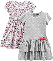 Simple Joys by Carter's Baby-Girls 2-Pack Short-Sleeve and Sleeveless Dress