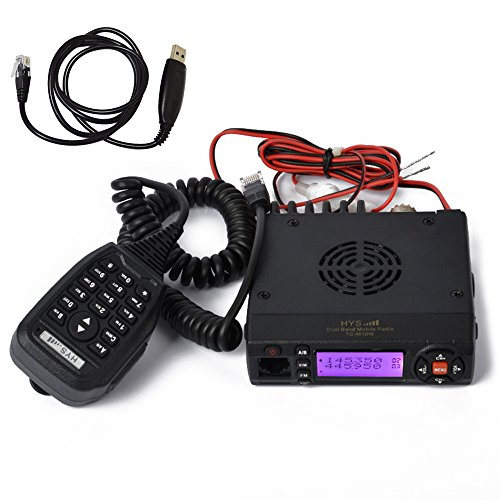 HYS Mini VHF uhf 136-174 400-490mhz Dual Band 15w Mobile Transceiver Amateur Ham Two Way Radio