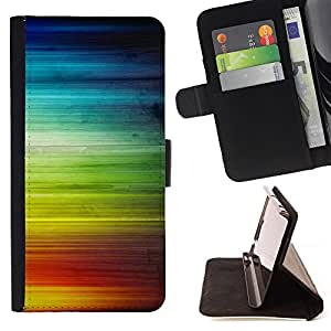 DEVIL CASE - FOR Apple Iphone 6 - Rainbow Stripes Colorful Waves Lgbt Rights - Style PU Leather Case Wallet Flip Stand Flap Closure Cover
