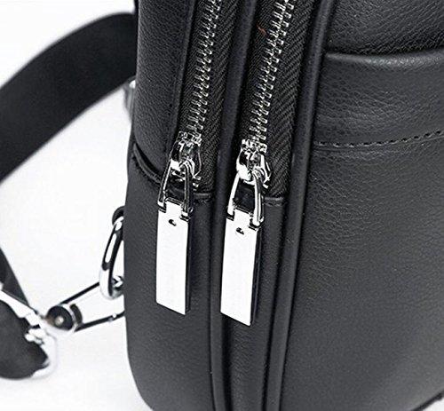 Hombro Cinturón Corsé Hombro Los Hombres Bolsos Black Bolso Bag Móvil Casual De Messenger q44UPHfw