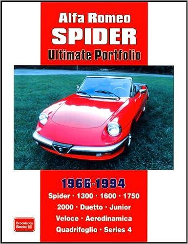 Alfa Romeo Spider Ultimate Portfolio RM Clarke - Alfa romeo spider 1994