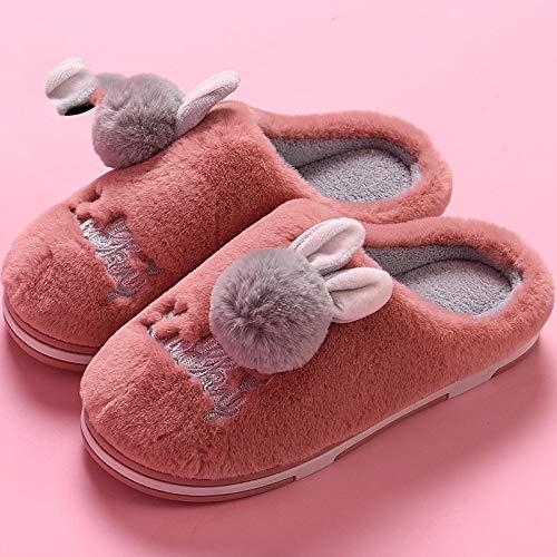Caseras Shoes Algodón El Otoño Gruesas Interiores Zapatillas Vino Rojo Antideslizantes Plataforma Para E Interior Femenina Bonita Con De Invierno Media Bolsa rggSf