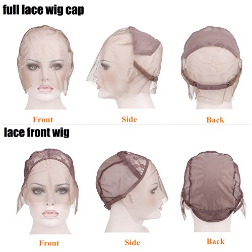 Creamily Professional Swiss Lace Wig Caps for Making Wig with Adjustable Straps Medium Size 22.5inch (Full Lace Cap, Light Brown Color) by Creamily (Image #5)