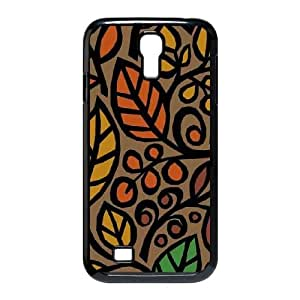 Cute TPU Case Fall Floral Collage Samsung Galaxy S4 9500 Cell Phone Case Black