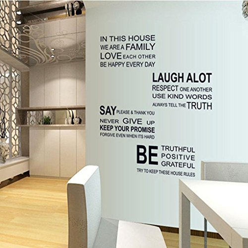Hatop Love Family Rules Removable Decal Art Mural Home Decor Wall Sticker Baby Product In The