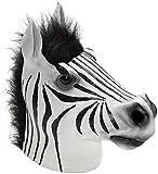 Forum Women's Overhead Latex Zebra Mask, Black/White, One Size