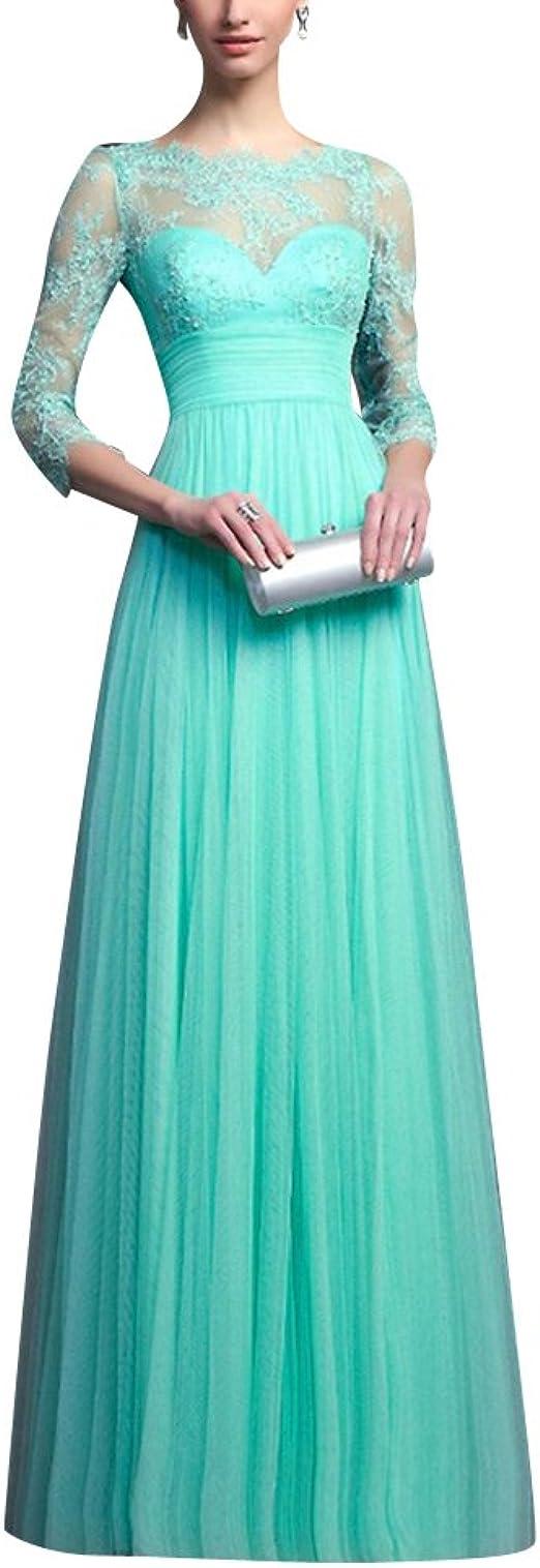 Damen Spitzenkleider Hochzeit Elegant Abendkleider Ballkleid