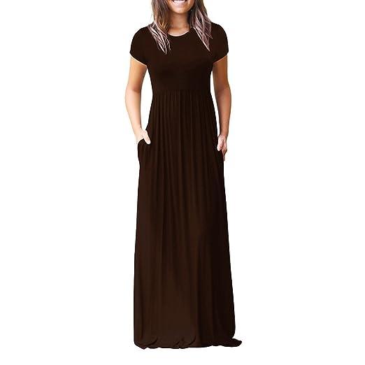Damark(TM) Vestidos Mujer Verano 2018, Bolsillos Casuales O Cuello Vestido Playa Fiesta Noche Cóctel Vacation Encaje para Mujer: Amazon.es: Ropa y ...