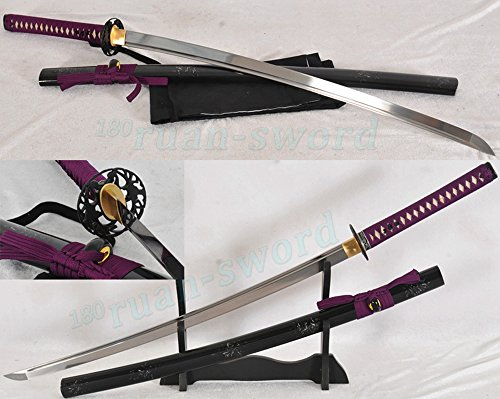 Japanese Samurai Katana Sword Handmade 1060 Carbon Steel Full Tang Blade Sharp