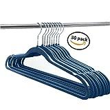 Elaine Karen Deluxe Designer Non Slip Heavy Duty Velvet Hangers – NAVY – 30pk