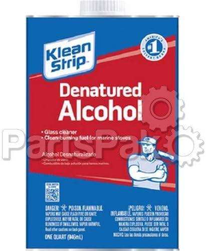 Klean Strip Qsl26w Denatured Alcohol Quart @4