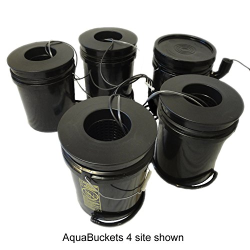 $259.95 Hydroponics Kits Hydro West AquaBuckets 5 Gallon 6 Site DWC Hydroponic System with Mixing Cell and 200 Mesh Filter 2019
