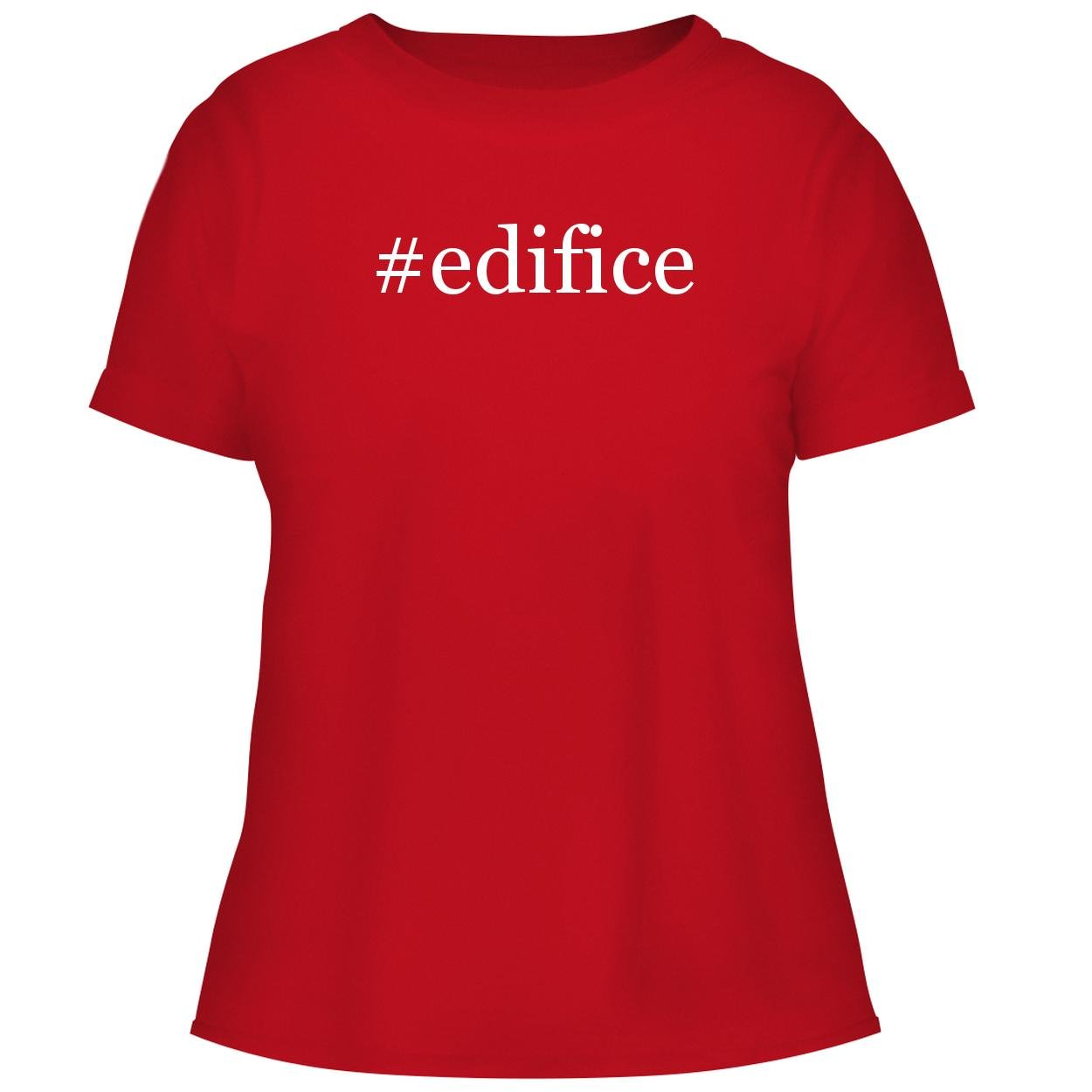 BH Cool Designs #Edifice - Cute Women's Graphic Tee, Red, Small