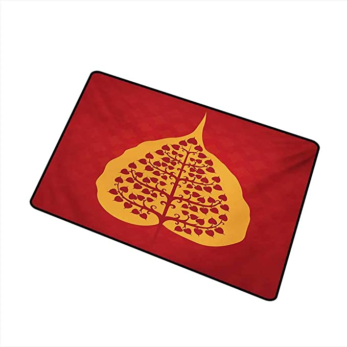Amazon.com: HRoomDecor Leaf,All Weather Door Mats Artistic ...