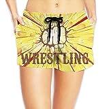 Deear Fist Wrestling Vintage Womens Quickly Drying Beach Waist Elastic Shorts Swim Trunk Boardshorts Swimwear With Pocket XXL