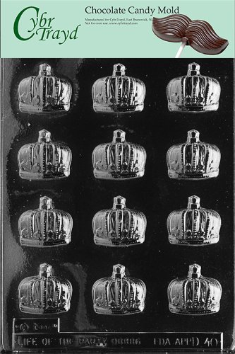 CROWNS chocolate candy mold -