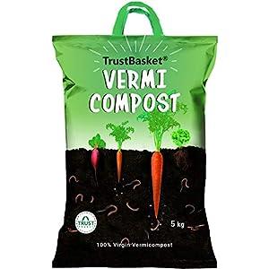 TrustBasket Organic Vermicompost Fertilizer Manure for Plants – 5 KG