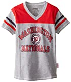 MLB Girl's V-Neck Jersey Shirt
