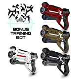 "USA Toyz Laser Tag Sets - ""Battle Box"" 4 Pack Multiplayer Laser Tag Guns for Kids with Lazer Tag Games Spider Training Bot + Lazer Tag Gun Set Case"