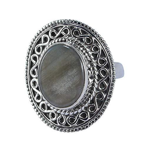 Saamarth Impex Willow Creek Jasper 925 Sterling Silver Ring Sz 6 - Jasper Sterling Silver Adjustable Ring