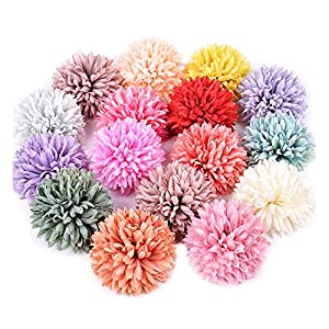 Memoirs- 2Pcs Silk Artificial Flower Dandelion Ball for Wedding Home Decoration DIY Craft Wreath Gift Valentine's Day Decor Fake Flowers 89