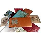 PARTH IMPEX Premium Shagun Gift Envelope (Pack of 10) Assorted Color Designs Money Holder Card Fancy Packet for Christmas Diwali Easter Birthday Wedding Anniversary Designer Invitation Envelopes