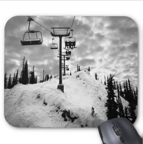 Abran rubiner photography los angeles personal mountain snowboard ski whistler canada Pattern Mouse pad (Canada Ski)