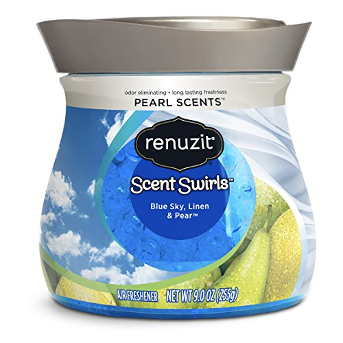 Renuzit Pearl Scents Air Freshener, Blue Sky, Linen & Pear, Pack of 8, (Packaging May Vary)