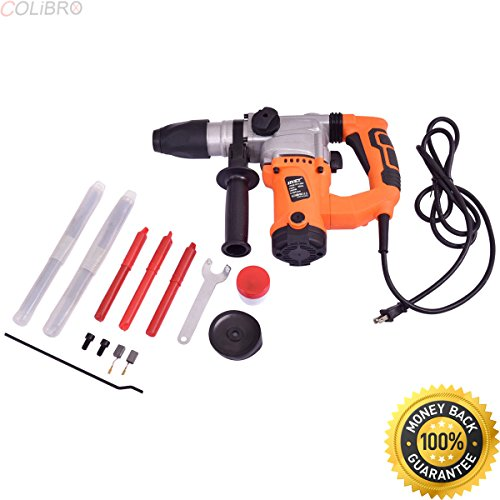 """COLIBROX--Electric Rotary Hammer Drill 1"""" SDS Three Function Combo 1000W w/Chisel Kit New. rotary hammer harbor freight. bauer rotary hammer drill review. best hammer drill for concrete."""