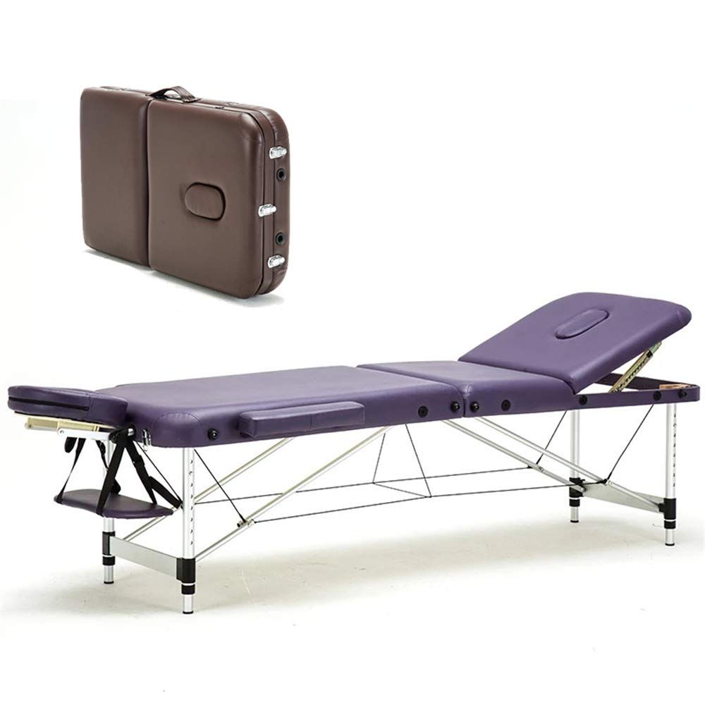 WGIRL Portable Folding Massage Table Folding Bed SPA Beauty Bed Salon Furniture Professional Massage Tables,B by WGIRL