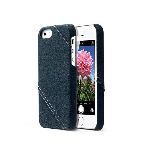 Zenus Cambridge Bar Case/Tasche Navy für Apple iPhone 5/5S
