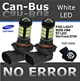 98 prelude fog lights - ICBEAMER 2 pcs 9006 HB4 12V 57W Canbus 57 LED Fit Fog Light Bulbs Only Replace Halogen Lamps [Color Super White]