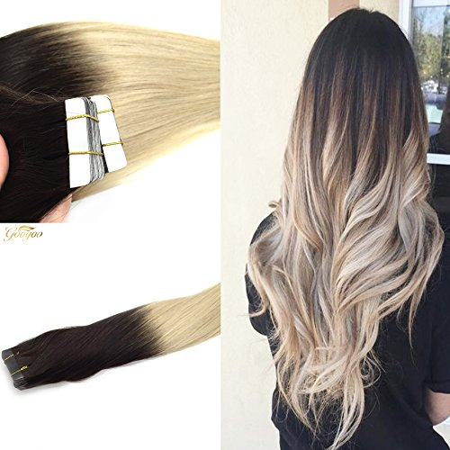 Ombre colored hair extensions googoo remy tape in colored hair extensions adhesive double sided skin weft tape hair extensions ombre pmusecretfo Gallery