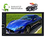 16GB R0M Car Stereo Double Din In Dash Android 6.0 Quad-core Marshmallow GPS Navigation Stereo System Auto Radio 7.0 inch Multi-Touch Screen Bluetooth 4.0 Head Unit support OBD2 WiFi 4G/3G Phone Link