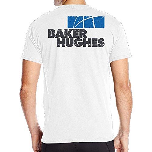 Fantastic Grunge Baker Hughes Logo Short T Shirt Mens Back Graphic