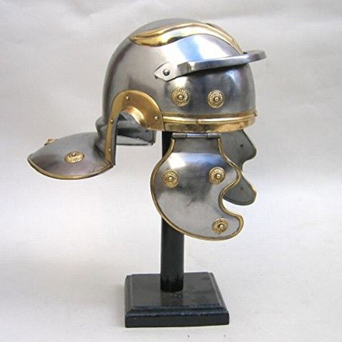Steel Ancient Rome Imperial Military Guard Helmet W/ Brass Trim Medieval (Royal Imperial Guard Costume)