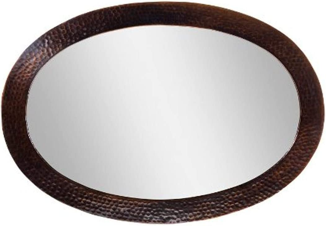Amazon Com The Copper Factory Cf137an Solid Hammered Copper Framed Oval Mirror Antique Copper Home Improvement